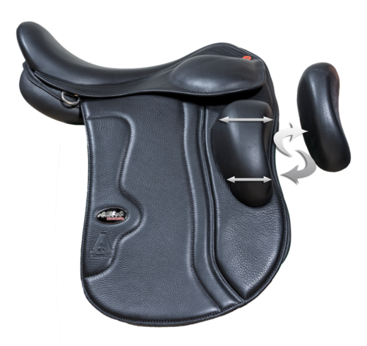 Karlslund A saddle, KneeFit